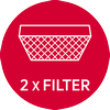 Carbon filters : 2